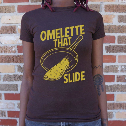 Omelette That Slide T-Shirt Ladies- Free Shipping