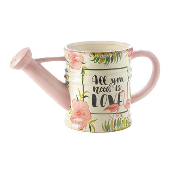 Pink Flamingo Watering Can/Planter