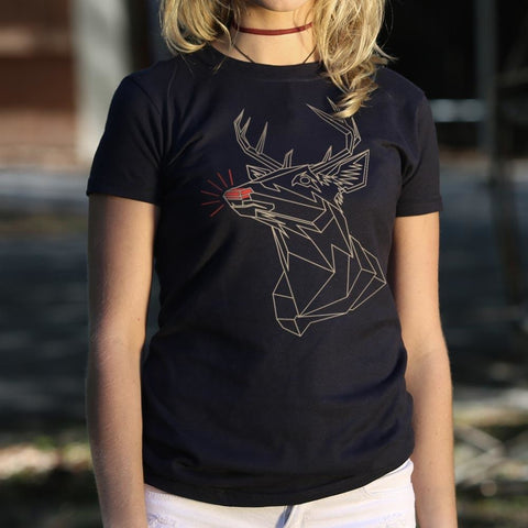 Polygon Rudolph T-Shirt Ladies- Free Shipping