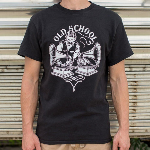 Mens Old Timey School DJ T-Shirt