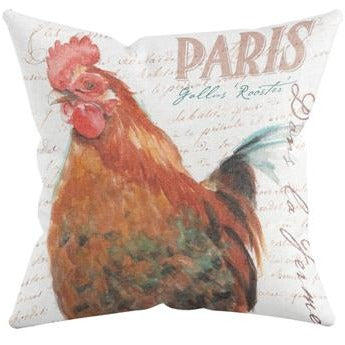 ROOSTER I THROW PILLOW by Redstreake Creative Living