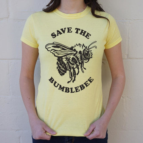 Save The Bumblebee T-Shirt Ladies- Free Shipping