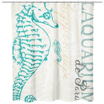 SEAHORSE SHOWER CURTAIN By Redstreake Creative Living