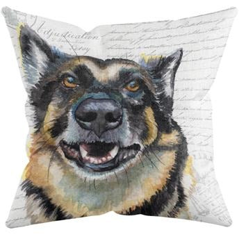 GERMAN SHEPHERD THROW PILLOW by Redstreake Creative Living