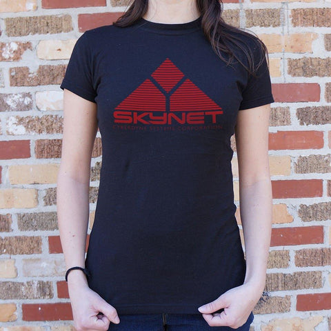 Skynet Cyberdyne Systems Corporation T-Shirt Ladies- Free Shipping