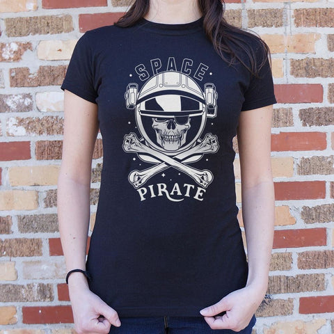 Space Pirate T-Shirt Ladies- Free Shipping