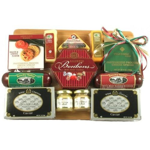 Board of Directors Cheese & Sausage Gift Basket- Multiple Sizes