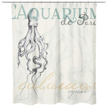 SQUID SHOWER CURTAIN by Redstreake Creative Living