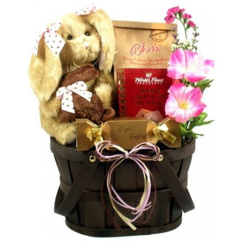 A Sweet Surprise for Easter! Girl with Chocolate Scented Bunny