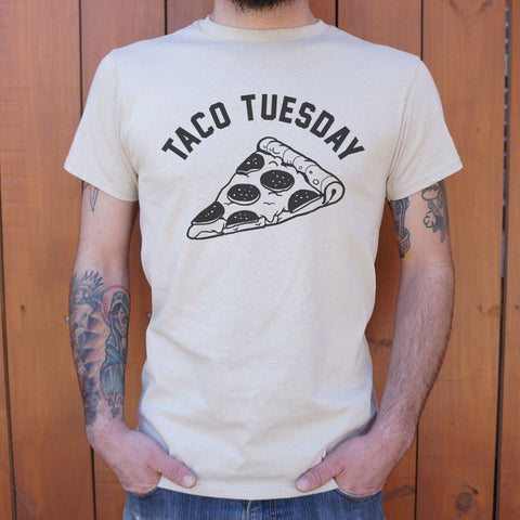 Mens Taco Tuesday Pizza Slice T-Shirt
