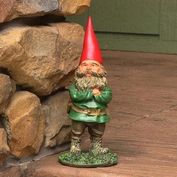 Timothy the Gnome, 9in Tall by Sunnydaze Decor