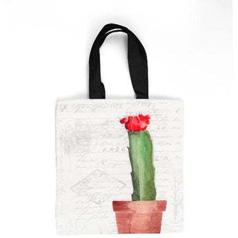 CACTUS W/FRUIT 2 TOTE BAG by Redstreake Creative Living- Multiple Sizes