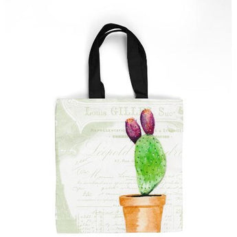 CACTUS W/FRUIT TOTE BAG by Redstreake Creative Living- Multiple Sizes