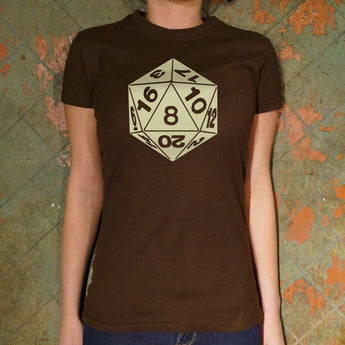 20-Sided Die T-Shirt- Ladies Free Shipping
