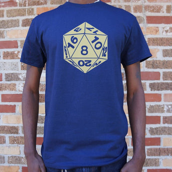 20-Sided Die T-Shirt Mens- Free Shipping