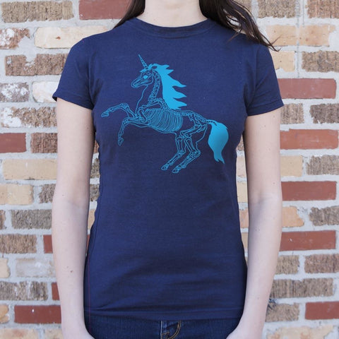 Unicorn Skeleton T-Shirt Ladies- Free Shipping