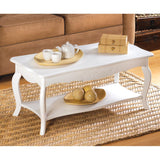 Cottage Style White Coffee Table- Free Shipping
