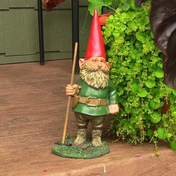 Woody Jr. the Gnome, 13.5in Tall by Sunnydaze Decor