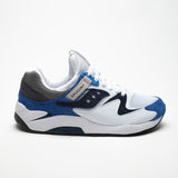 SAUCONY GRID 9000 ORIGINALS WHITE/BLU - Sneaker Pumps