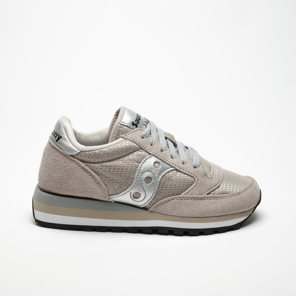 SAUCONY JAZZ TRIPLE ORIGINALS GREY/SILVER - Sneaker Pumps