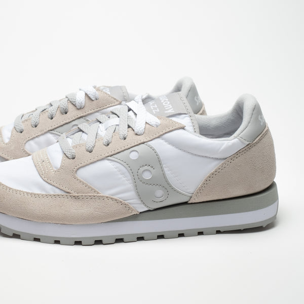 SAUCONY JAZZ ORIGINALS WHITE/GREY - Sneaker Pumps