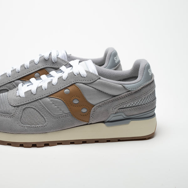 SAUCONY SHADOW ORIGINALS GREY/BROWN - Sneaker Pumps