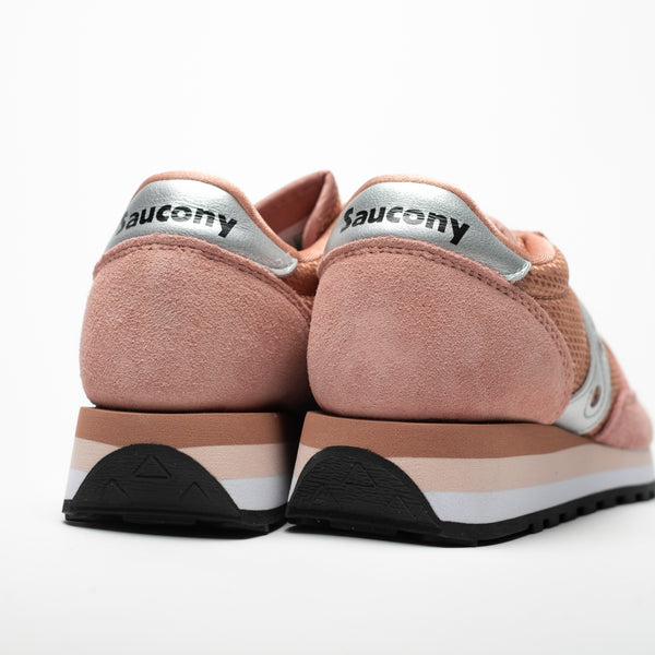 SAUCONY JAZZ TRIPLE ORIGINALS PINK/SILVER - Sneaker Pumps
