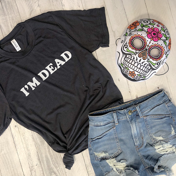 Limited: I'm Dead...Halloween Dark Grey Unisex Triblend Tee