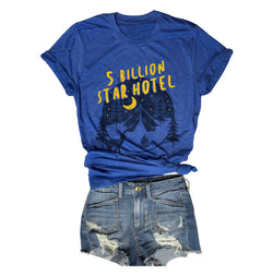 5 billion star hotel tee, 5 star hotel, unisex tee, zion tee, glamping shirt, camping shirt, everfitte, retro tee, Havisu falls shirt, salt lake city, park city, northern lights, retro tee, vintage tee, best vintage tee shop, best retro tee shop, san clemente, bachelorette party,