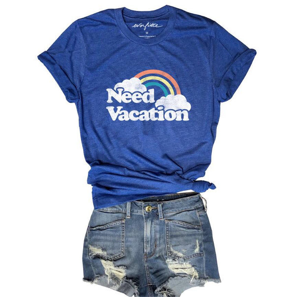 Need Vacation...Royal Triblend Unisex Tee