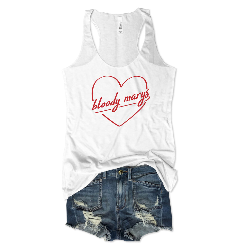 SALE! Bloody Mary Heart White Tank