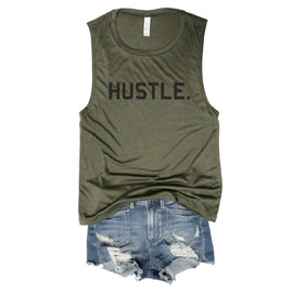 Hustle Army Muscle Tee