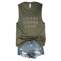 SALE! Lovers Gonna Love...Army Muscle Tee