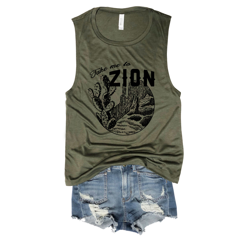 SALE! Take Me To Zion Army Muscle Tee