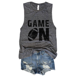Sale! Game On...Asphalt Slub Muscle Tee