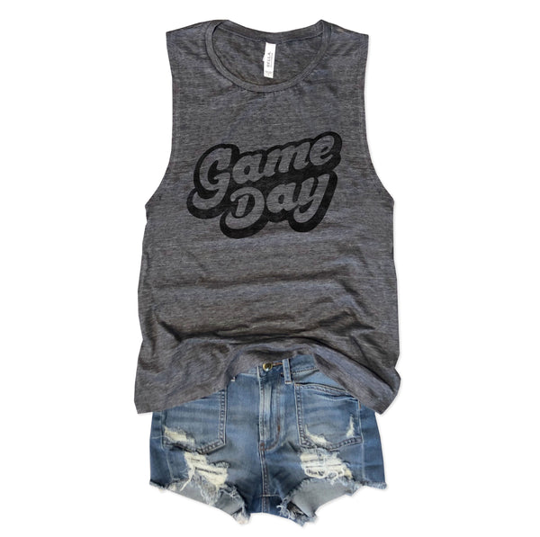 Limited!!! Game Day Asphalt Slub Muscle Tee