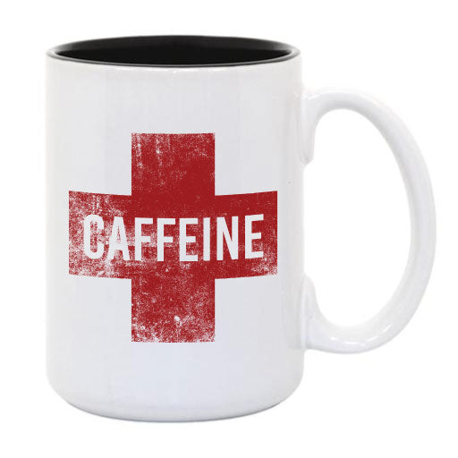 Caffeine Cross... Everfitte Funny Ceramic Two Tone Mug