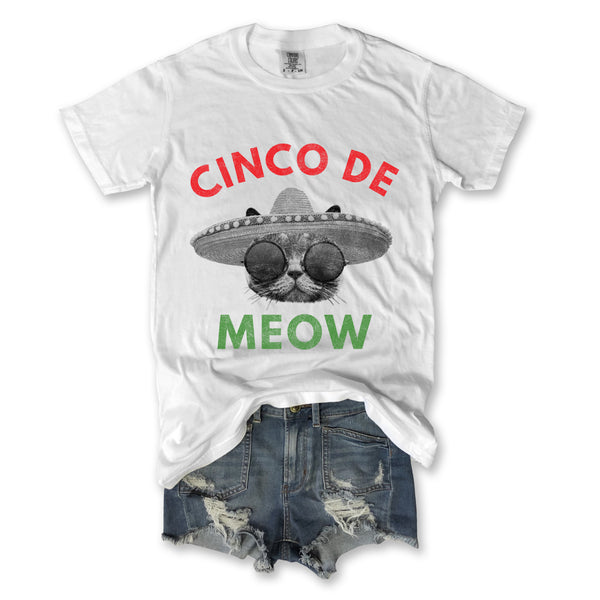 meow, cinco de meow t shirt, cat shirt, funny cat shirt, cinco de mayo shirt, vintage tee, retro tee, everfitte tee, funny shirt,