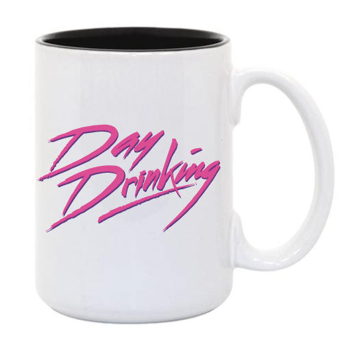 Day Drinking ... Everfitte Funny Ceramic Two Tone Mug