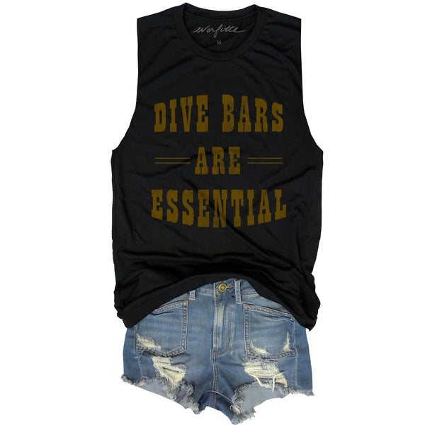 Dive Bars Are Essential ... Funny Unisex Super Soft Triblend Raw Edge Muscle Tee-Everfitte-[funny family shirt]-[drinking shirts]-[bachelor shirt]-[bachelorette party tees]-[bridal party shirt]-[bridal party tee]-[group drinking tees]-[funny vodka shirt]-[funny tequila tee]-[funny tequila tshirt]-[funny whiskey tshirt]-[funny drinking shirt]-[tequila t-shirt]-[vodka t-shirt]-[whiskey t-shirt]-Everfitte
