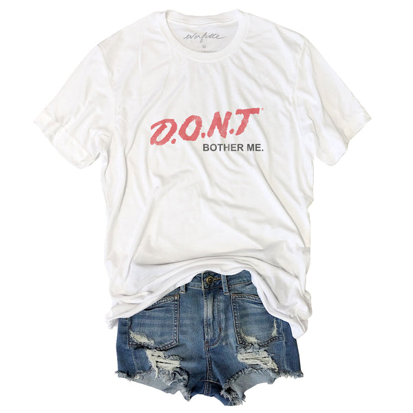 Don't Bother Me ... Retro 80's Funny Unisex Triblend Tee-Everfitte-[drinking shirt]-[alcohol shirt]-[bachelorette party]-[bridal party]-[funny shirt]-[funny tee]-[shirt with words]-[coffee in the shower]-[lululemon]-[chaser]-Everfitte