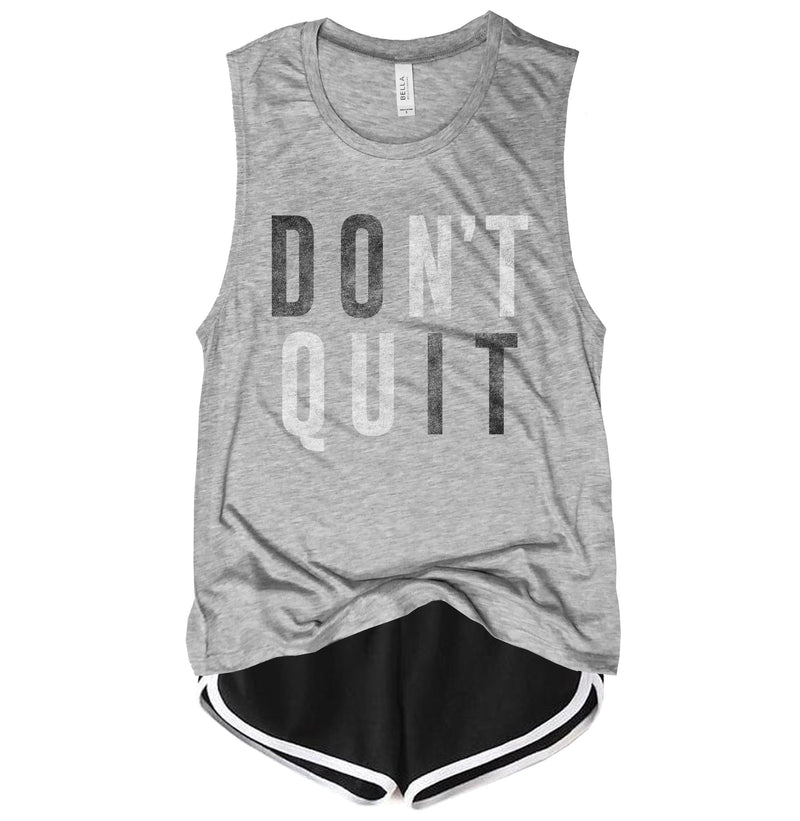 Don't Quit Do It ...Motivational Gym Grey Muscle Tee