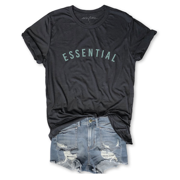 I'M ESSENTIAL ... Funny Unisex Triblend Tee-Everfitte-[drinking shirt]-[alcohol shirt]-[bachelorette party]-[bridal party]-[funny shirt]-[funny tee]-[shirt with words]-[coffee in the shower]-[lululemon]-[chaser]-Everfitte