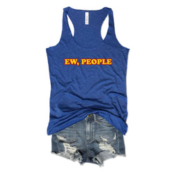 EW, PEOPLE ... Retro Royal Triblend Racerback Tank