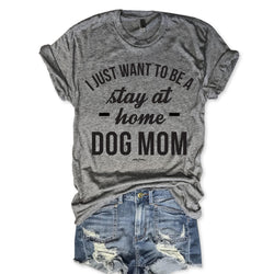 SALE! Stay At Home Dog Mom Unisex Triblend Tee