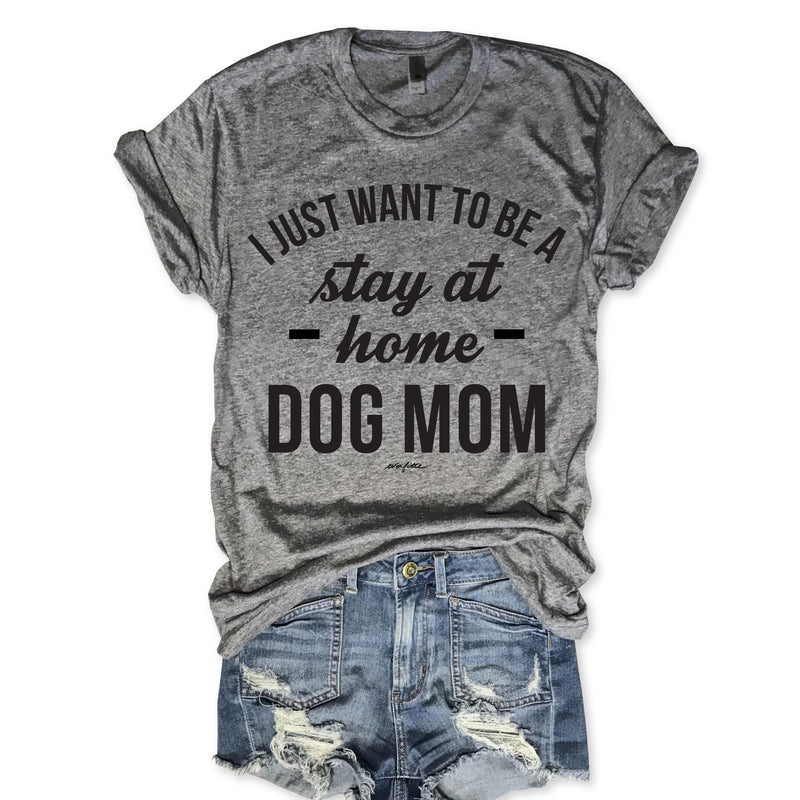 Stay At Home Dog Mom Unisex Triblend Tee