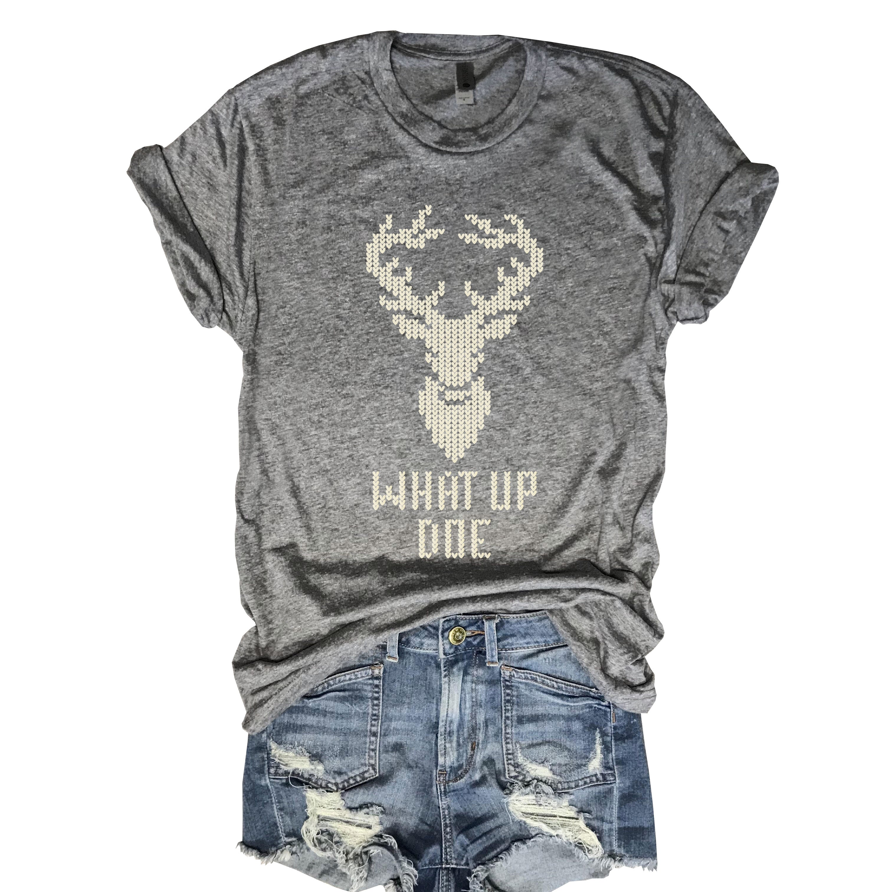 What Up Doe...Funny Holiday Triblend Unisex Tee