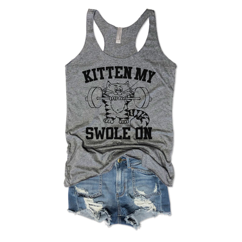 SALE! Kitten My Swole On... Racerback Tank