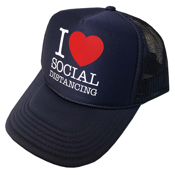I Heart Social Distancing ... Low-profile Trucker Hat