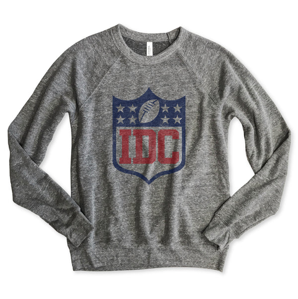 IDC (I Don't Care) Unisex Raglan Sweatshirt